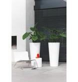 Elho Elho Pure Droite Ronde Haute. Blanc haut pot de fleurs rond diam 60cm H124cm. -15% commander en ligne! - copie