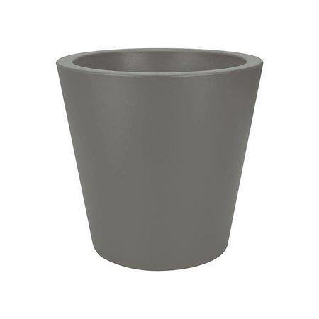 Elho Elho Pure Straight Round - Een stijlvolle steengrijze ronde kleine bloempot diam 35cm H34cm! - 15% korting online bestellen!
