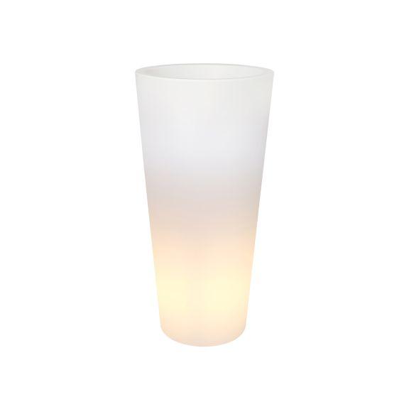 Elho Elho Pure Straight High Light - Diam 40cm H80cm. Pot de fleurs illuminé unique pour l'intérieur et l'extérieur!