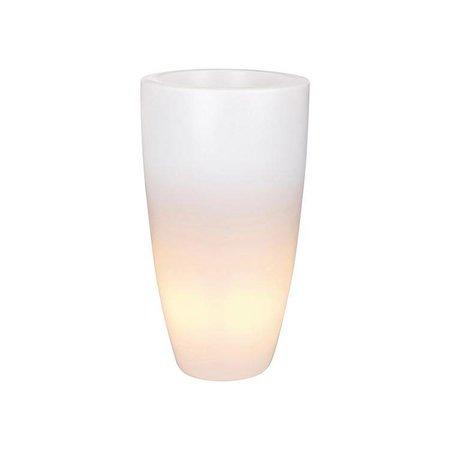 Elho Elho Pure Soft Round High Light LED - Pot de fleurs illuminé unique diam 50cm H90cm. - 10% de réduction en ligne