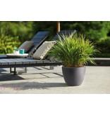 Elho Elho Pure Soft Round Élégant Anthracite rond pot de fleurs diam 30cm H23cm! -15% de réduction en ligne!
