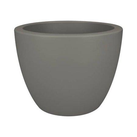 Elho Elho Pure Soft Round Stijlvolle Steengrijze ronde Bloempot diam 30cm H23cm! -15% korting online!