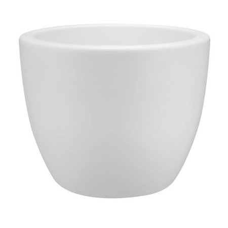Elho Elho Pure Soft Round Blanc élégant rond pot à fleurs rond diamètre 40cm H30cm! -15% de réduction en ligne!