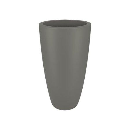 Elho Elho Pure Soft Round High - Steengrijze hoge ronde bloempot diam 40cm H70cm. -15% online korting!