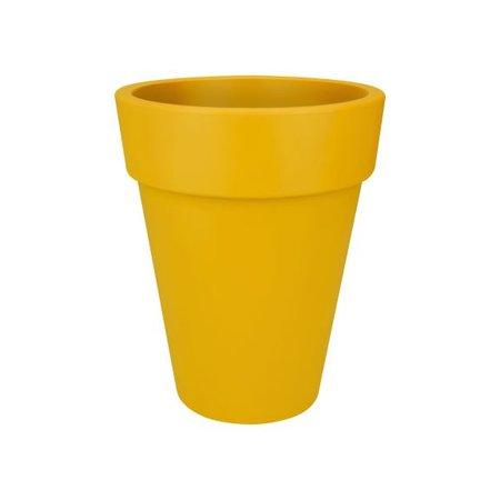 Elho elho Pure Round High Bloempot. Oker hoge ronde bloempot Diam 35cm H43cm. -15% online korting!