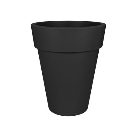 Elho Elho Pure Round High Bloempot. Zwarte hoge ronde bloempot Diam 35cm H43cm. -15% online korting!