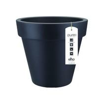 Pure Round Anthracite 40cm H36cm Pot de Fleurs Rond