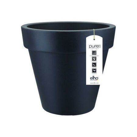 Elho Elho Pure Round - Antraciete ronde bloempot diam 40cm H36cm. -15% online korting!