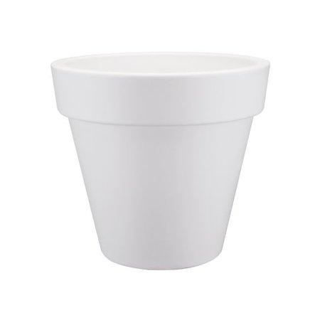 Elho Elho Pure Round - Witte ronde bloempot diam 40cm H36cm. -15% online korting!