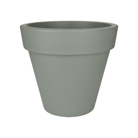 Elho Elho Pure Round - Steengrijze ronde bloempot diam 40cm H36cm. -15% online korting!