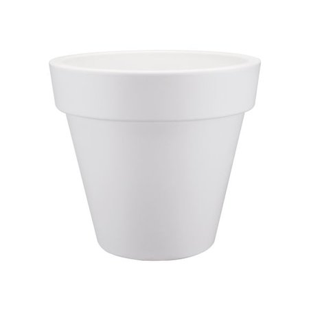 Elho Elho Pure Round - Witte ronde bloempot diam 50cm H44cm. -15% online korting!