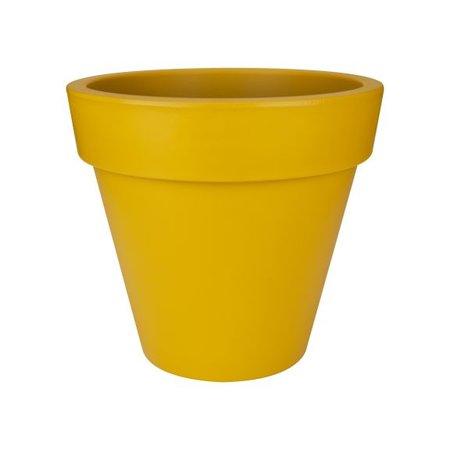 Elho Elho Pure Round - Pot à fleurs rond ocre diam 50cm H44cm. -15% de réduction en ligne!