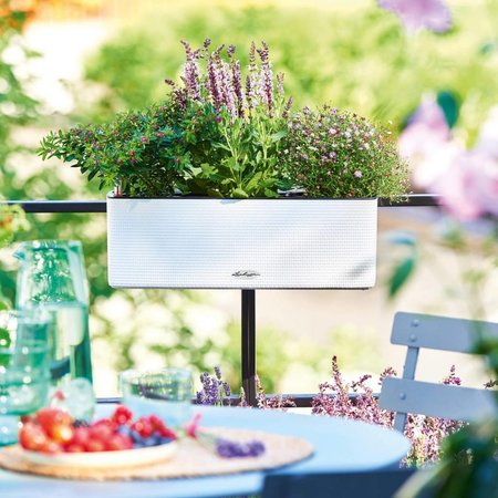 Lechuza Lechuza Cube  Color Triple. Leisteengrijze rechthoekige bloembak 14 x 40cm H14cm.  - 15 % online korting!