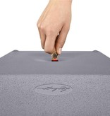 Lechuza Canto Stone High 30 Zandbeige Hoge vierkante bloembak 30 x 30cm H56cm! -15% online korting