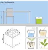 Lechuza Lechuza Canto stone Low 40 Steengrijze vierkante bloembak 40 x 40cm H40cm. - 15% online korting