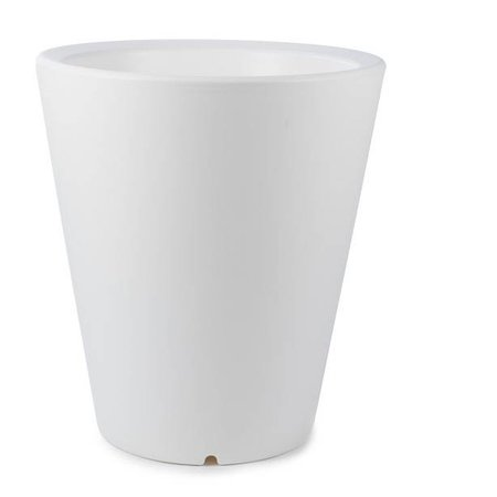 Otium Design Otium Design Olla 100. Pot de fleurs rond blanc Diam 80cm H100cm. Commandez en ligne ici!