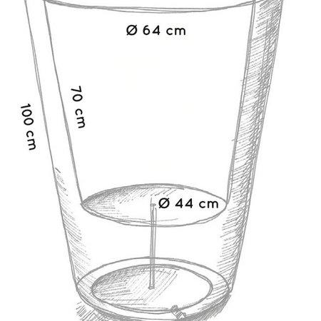 Otium Design Otium Design Olla 100. Pot de fleur rond en cappuccino Diam 80cm H100cm. Commandez en ligne ici!