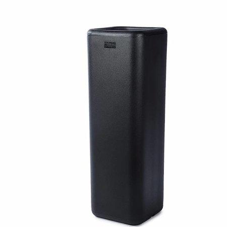 Otium Design Otium Design Murus 27 Zwarte vierkante hoge bloembak 27 x 27cm H80cm.  Online te bestellen