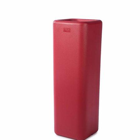 Otium Design Otium Design Murus 27. Rode vierkante hoge bloembak 27 x 27cm H80cm.  Online te bestellen