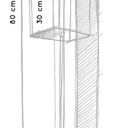Otium Design Otium Design Murus 27 Witte vierkante hoge bloembak 27 x 27cm H80cm.  Online te bestellen