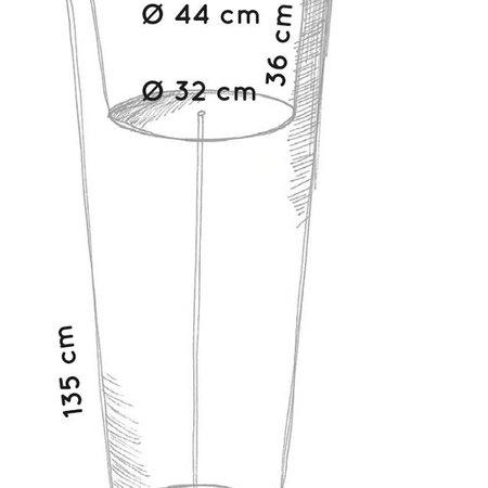 Otium Design Otium design Olla 135. Pot de fleurs rond haut noir Diam 54cm H135cm. Commandez en ligne ici!