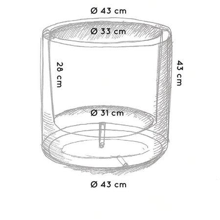 Otium Design Otium Design Cylindrus. Pot de fleurs rond vert lime diam 43cm H43cm. Commandez en ligne!