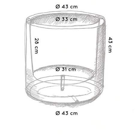 Otium Design Otium Design Cylindrus. Pot de fleurs rond noir diam 43cm H43cm. Commandez en ligne!