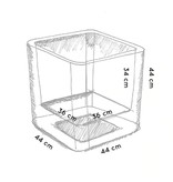 Otium Design Otium Design Qaudris 40. Witte vierkante bloembak 44 x 44cm H44cm. Hier online Bestellen!