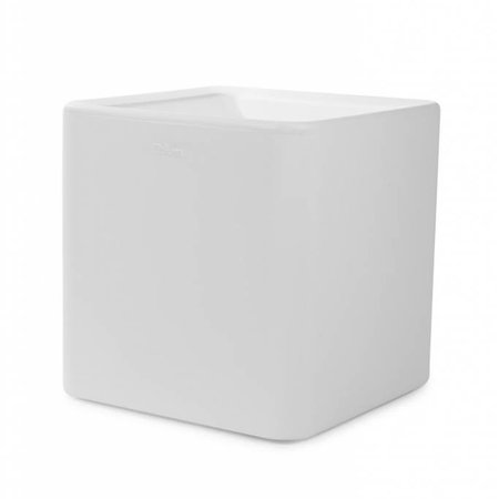 Otium Design Otium Design Qaudris 40. Jardinière carrée blanche 44 x 44cm H44cm. Commandez en ligne ici!