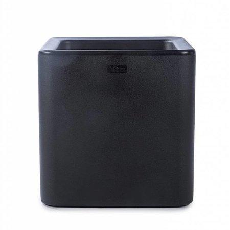 Otium Design Otium Design Qaudris 40. Jardinière carrée noire 44 x 44cm H44cm. Commandez en ligne ici!