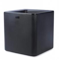 Qaudris 40 Noir 44 x 44cm H44cm Jardinière carrée