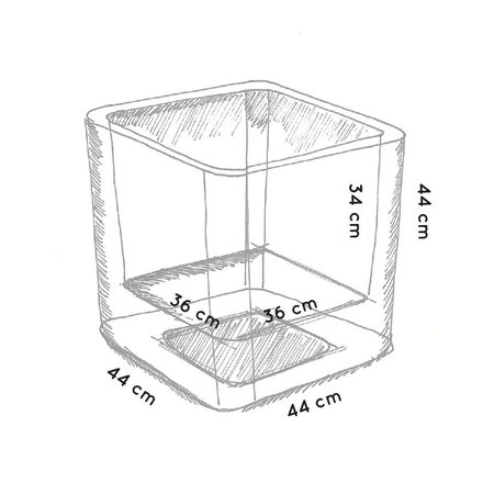 Otium Design Otium Design Qaudris 40. Jardinière carrée anthracite 44 x 44cm H44cm. Commandez en ligne ici!