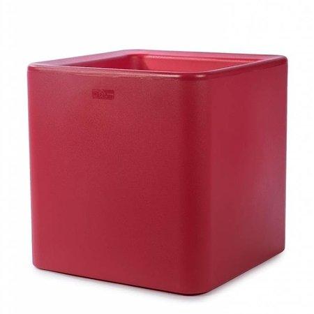 Otium Design Otium Design Qaudris 40. Jardinière carrée rouge 44 x 44cm H44cm. Commandez en ligne ici!
