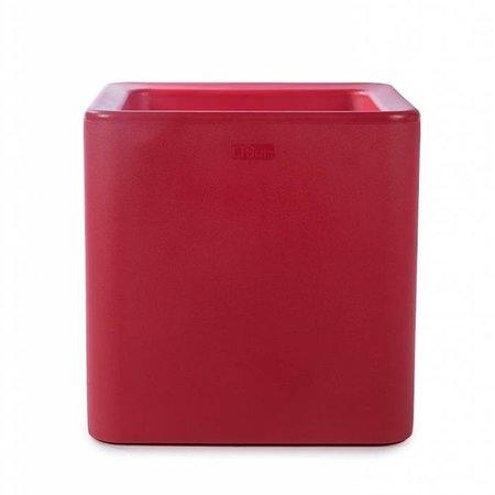 Otium Design Otium Design Qaudris 40. Rode vierkante bloembak 44 x 44cm H44cm. Hier online Bestellen!