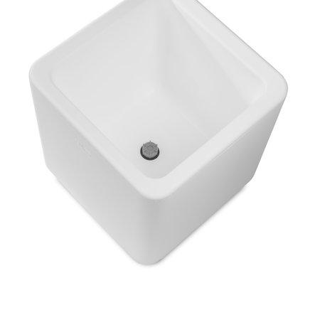 Otium Design Otium Design Qaudris 60. Caja de flores cuadrada blanca 60 x 60 x 60 cm. ¡Ordene en línea aquí!
