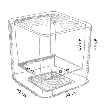 Otium Design Otium Design Qaudris 60. Witte vierkante bloembak 60 x 60 x 60cm. Hier online Bestellen!