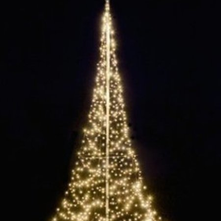 Fairybell Kerstboom H600cm / 600 LED Lampjes - Imposante Kerstboom In uw tuin of pand.