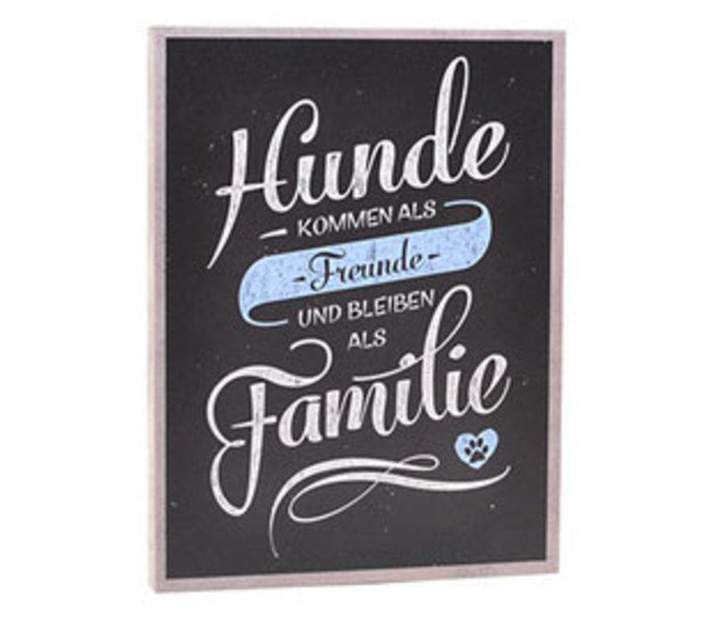 Holzschild FAMILIE