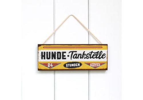 Türschild HUNDE-TANKSTELLE