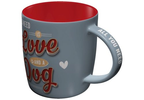 Designer-TASSE: ALL YOU NEED IS LOVE AND A DOG