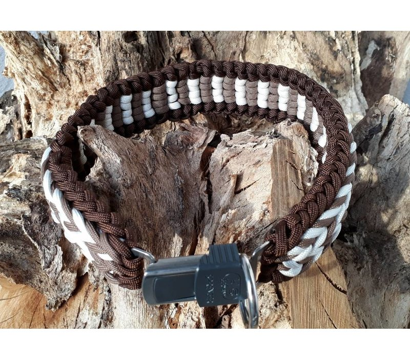 Paracord -Halsband Cappuccino