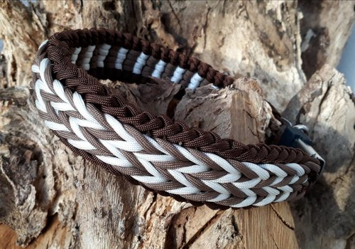 Working Dogs Paracord -Halsband Cappuccino