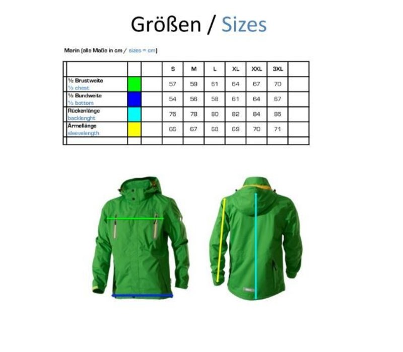 "Unisex-Jacke ""Marin"" grün"