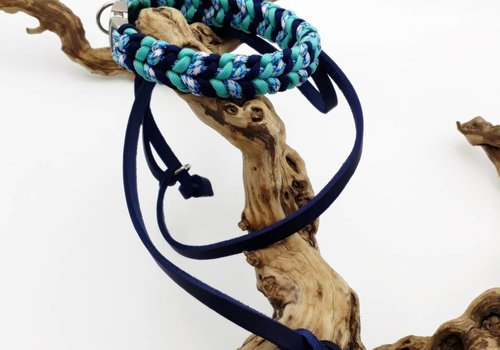 "Working Dogs Paracord -Halsband ""3 COLOR RIVER BAR"""