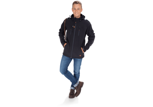 Goodboy Herren Softshelljacke BUDDY in schwarz