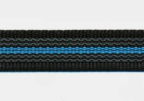 Working Dogs Gummierte Leine schwarz-blau