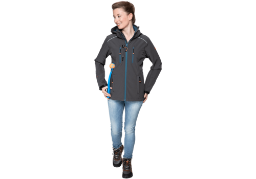 Goodboy Damen Softshelljacke LUCY  anthrazit/aquamarin