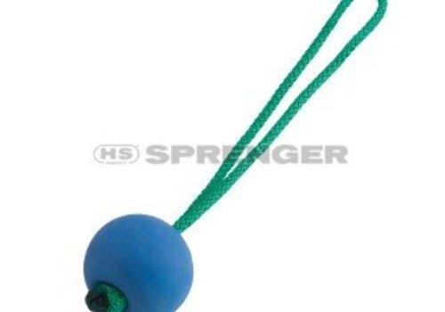 HS Sprenger Moosgummiball blau, rot, gelb  - schwimmend