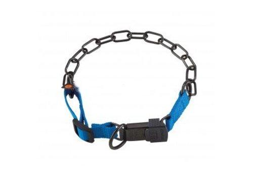 HS Sprenger Gliederhalsband mit Cliclock - verstellbar - blau