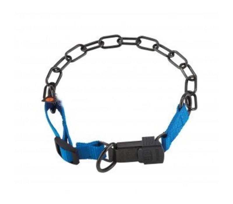 Gliederhalsband mit Cliclock - verstellbar - blau